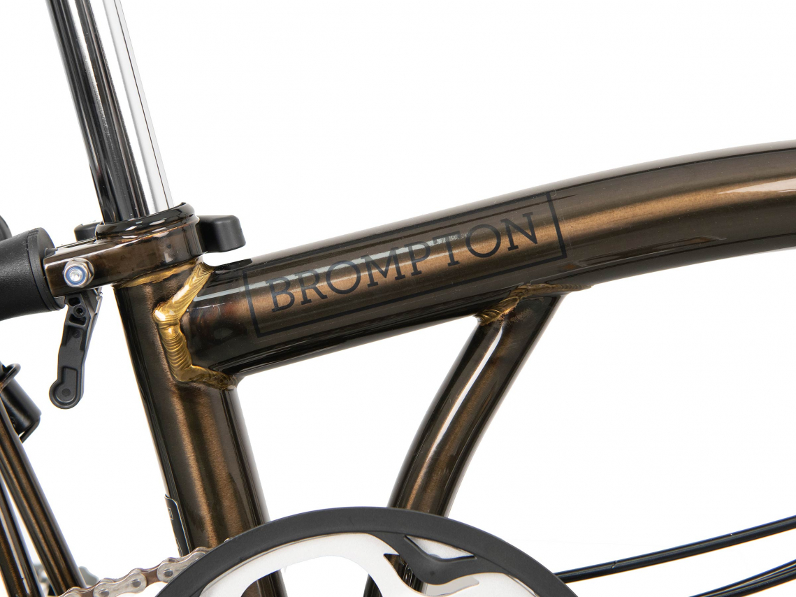 Brompton H6Rx Vouwfiets Black Lacquer-Titanium