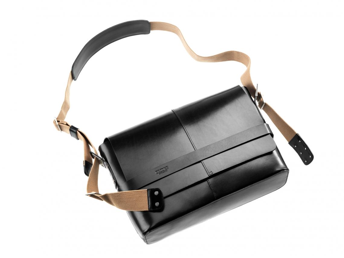 Brooks Barbican Leder Messenger Bag Zwart