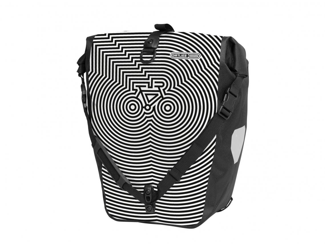 Ortlieb Back-Roller Design Achtertas Cycledelic Wit-Zwart