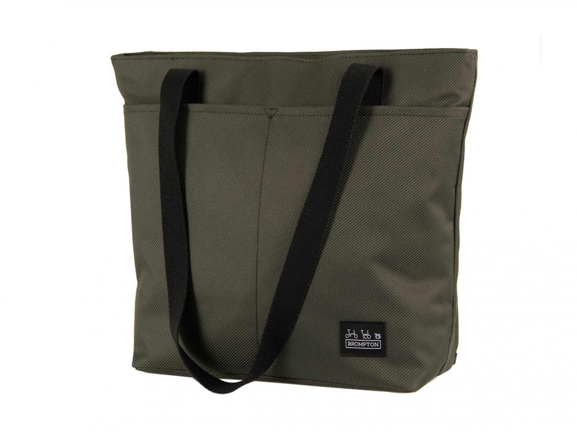 Brompton Borough Tote Bag S Olijf incl. Frame & Regenhoes