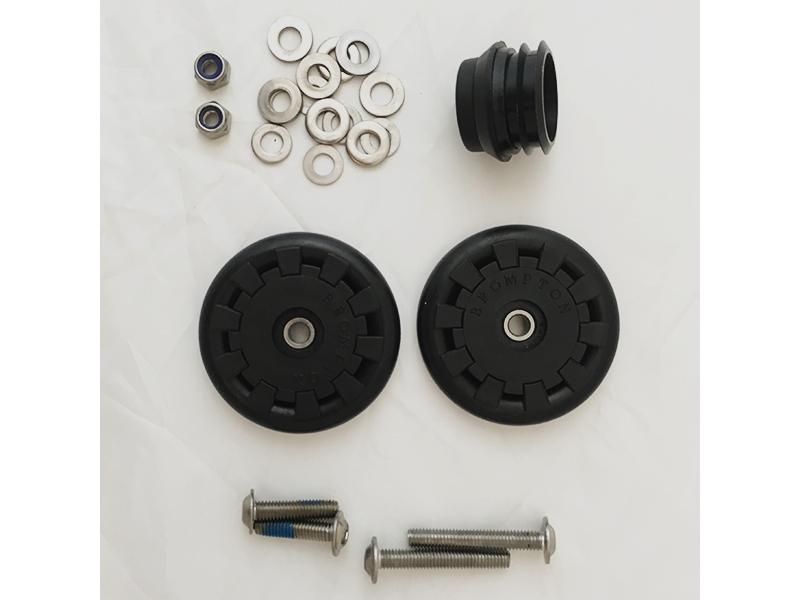 Brompton Eazy Wheel M6 incl. Bevestiging en Rolrem (Paar)