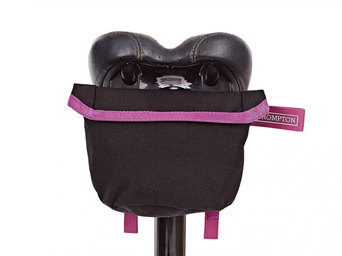 Brompton Saddle Pouch Zadeltas Zwart-Berry Crush