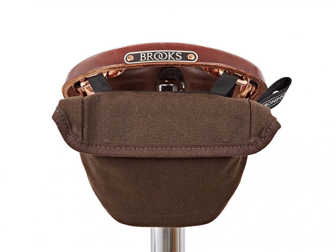 Brompton Saddle Pouch Zadeltas Waxed Canvas
