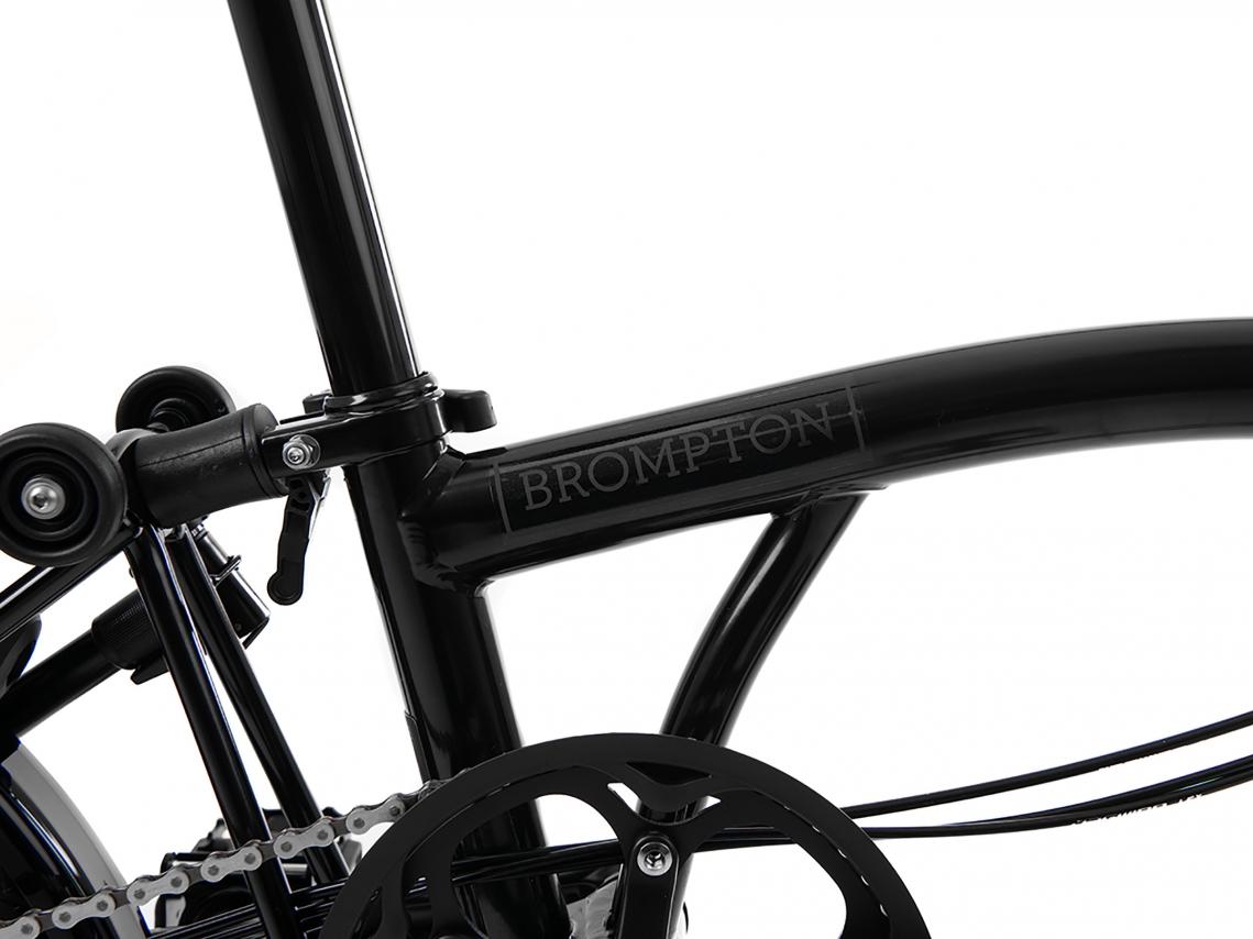 Brompton H6L Black Edition Vouwfiets Zwart Glans