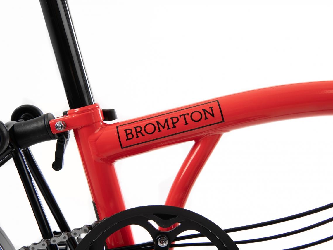 Brompton H6R Black Edition Raket Rood Glans