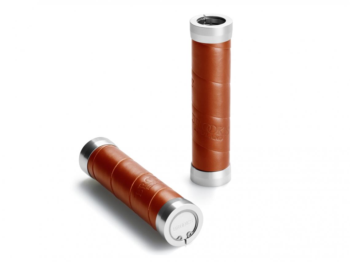 Brooks Slender Grips Leder Handvatten 130/130mm Honing