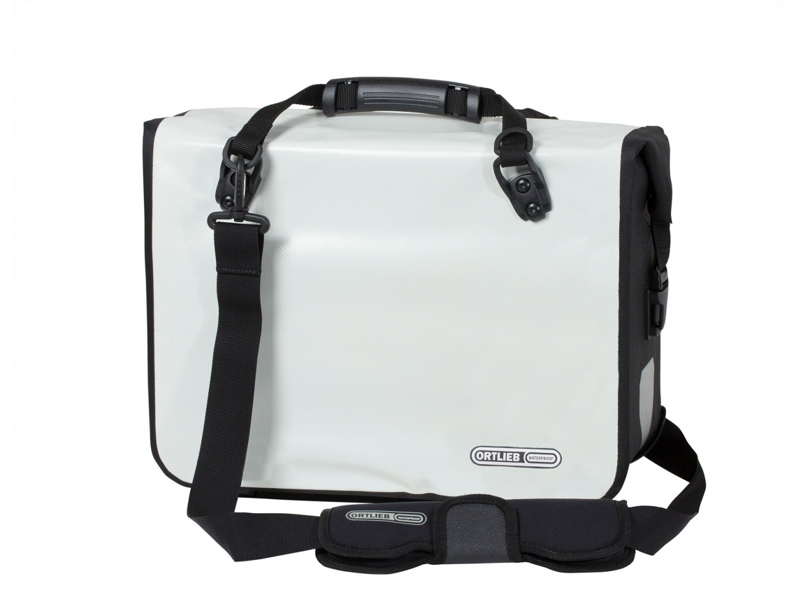 Ortlieb Office-Bag QL2.1 Aktentas Large PVC Wit-Zwart