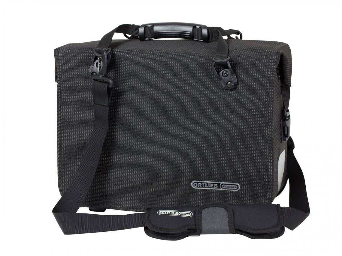 Ortlieb Office-Bag QL3.1 High Visibility Aktentas Zwart Reflex