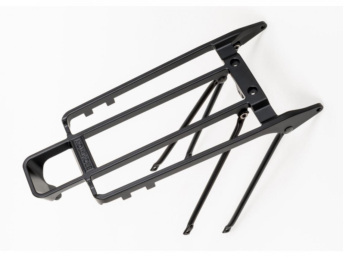 Brompton Bagagedrager incl. Steunen vr Rollers M6 Zwart