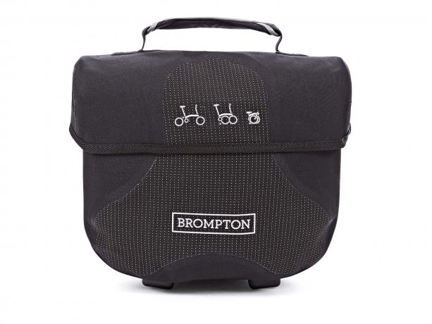 Brompton Ortlieb Mini O-Bag Zwart Reflective