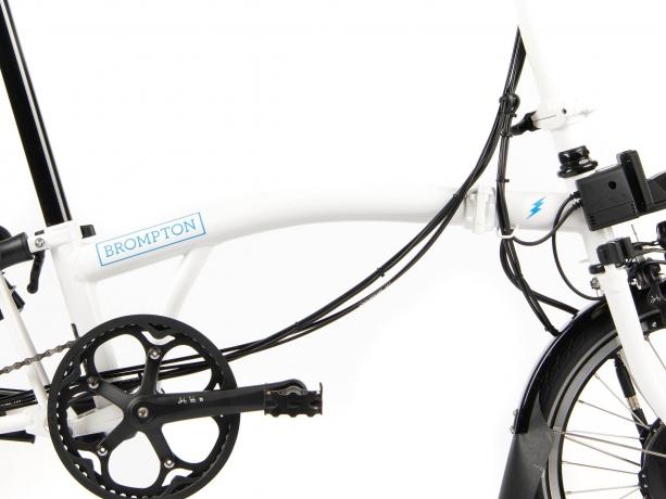 Brompton Electric M6L Vouwfiets Wit Glans