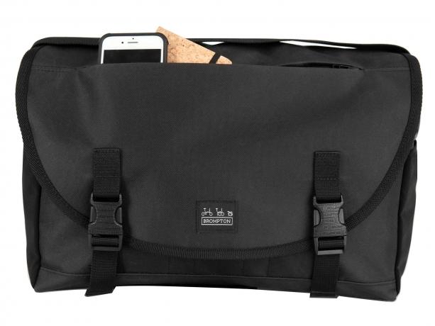 Brompton Metro Messenger Bag M Zwart incl Frame & Regenhoes