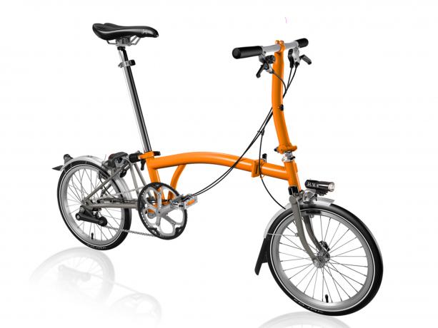 Brompton S2Lx Vouwfiets Oranje-Titanium