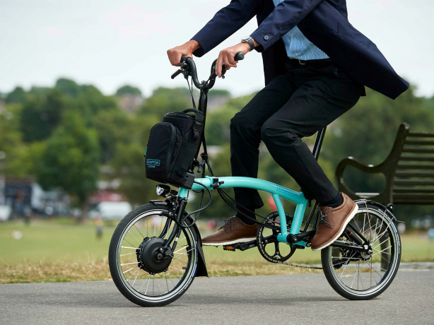 Brompton Electric H6L Vouwfiets Turkoois glans