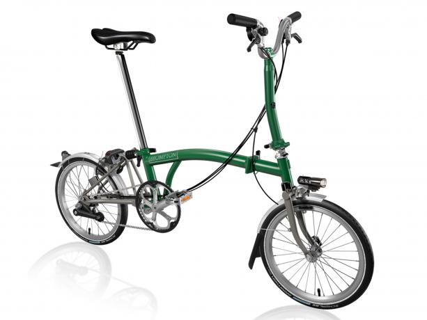 Brompton M6Lx Vouwfiets Racing groen - Titanium