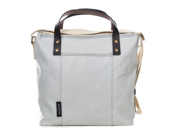 Brompton Tote Bag met ritssluiting incl. Frame & Regenhoes Grijs