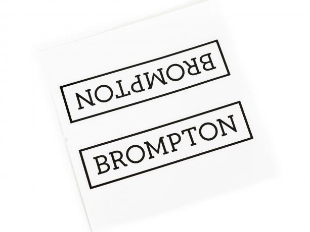 Brompton Transfer / Decal Zwart