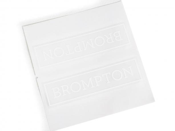 Brompton Transfer / Decal Wit