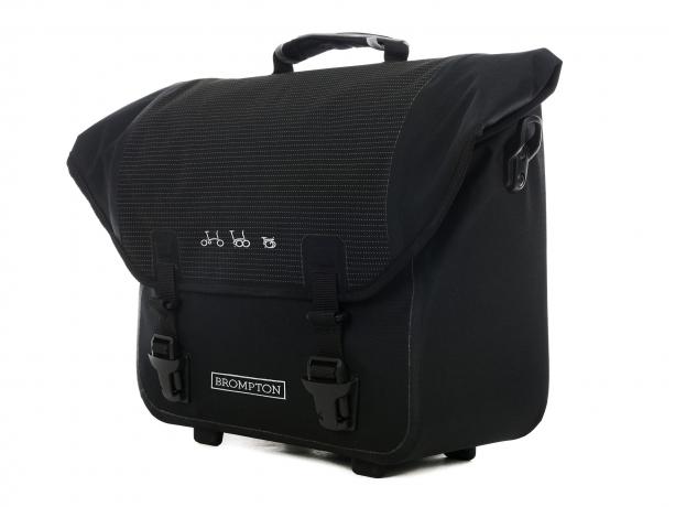 Brompton Ortlieb O-Bag Zwart Reflective