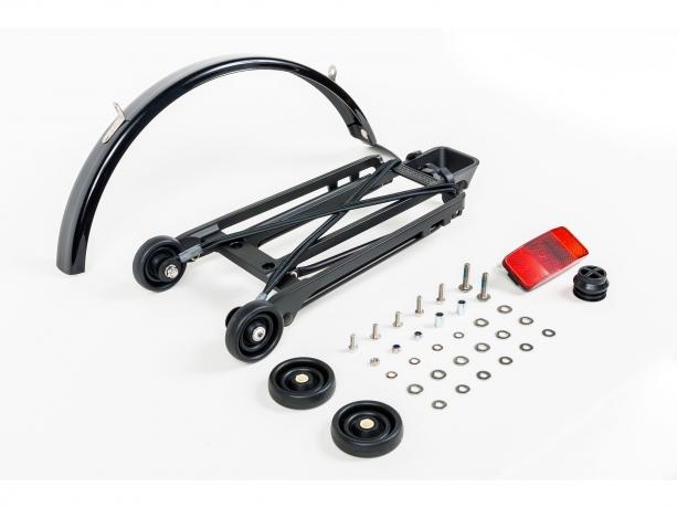 Brompton Bagagedrager-Kit Drager-Spatb.-Rollers M6 Zwart