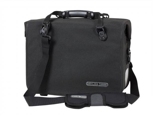Ortlieb Office-Bag QL2.1 High Visibility Aktentas Zwart Reflex