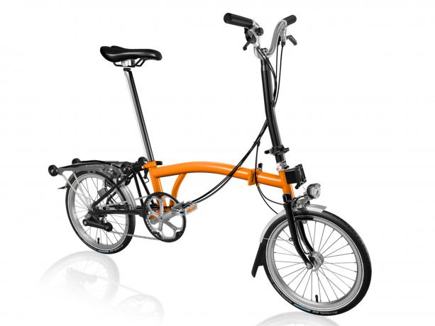 Brompton H6R Vouwfiets Oranje-Zwart