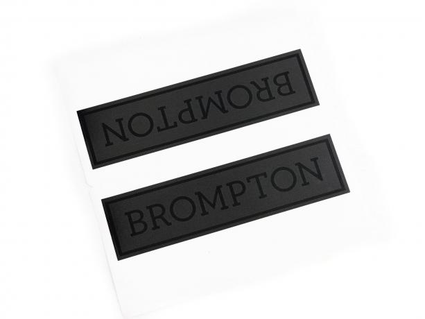 Brompton Transfer / Decal Black Edition, Zwart mat frame