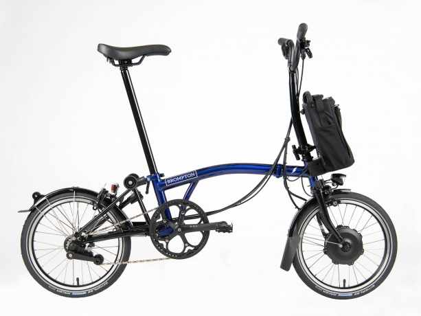 Brompton Electric M6L Vouwfiets Blauw Lacquer-Zwart Glans