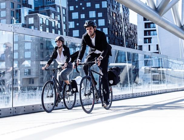 Ortlieb Downtown Two QL3.1 Aktentas PVC Wit-Zwart