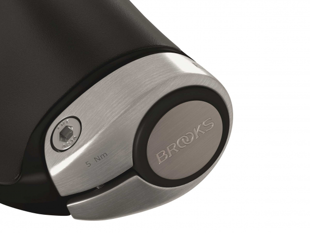 Brooks Ergon GP1 Leder Handvatten 130/130mm Zwart-Zilver