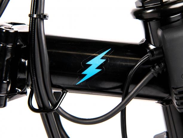Brompton Electric Decal Voorframe Blauw