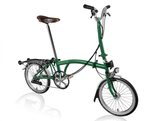 Brompton H6R Vouwfiets Racing groen