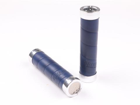 Brooks Slender Grips Leder Handvatten 130/130mm Appelgroen