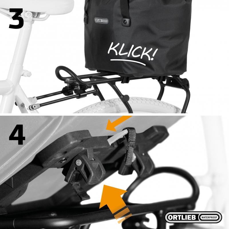 Rack-Lock bevestiging op de bagagedrager