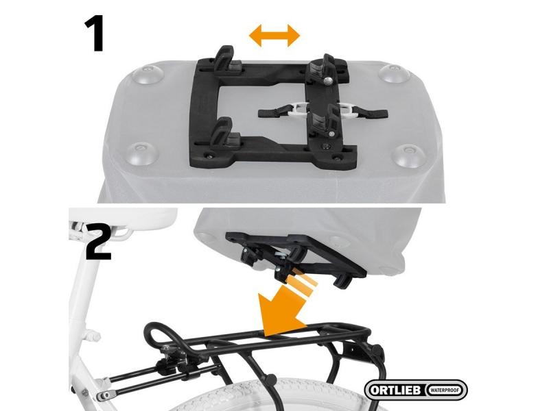 Rack-Lock adaptersysteem voor montage op de bagagedrager